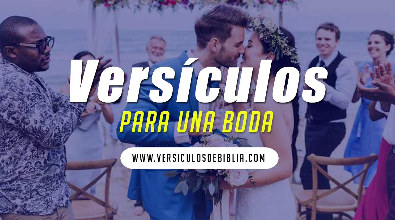 versículos para una boda