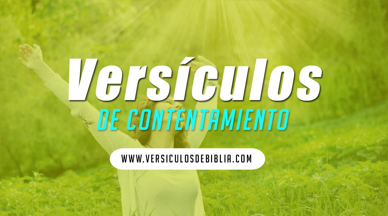 versículos de contentarse