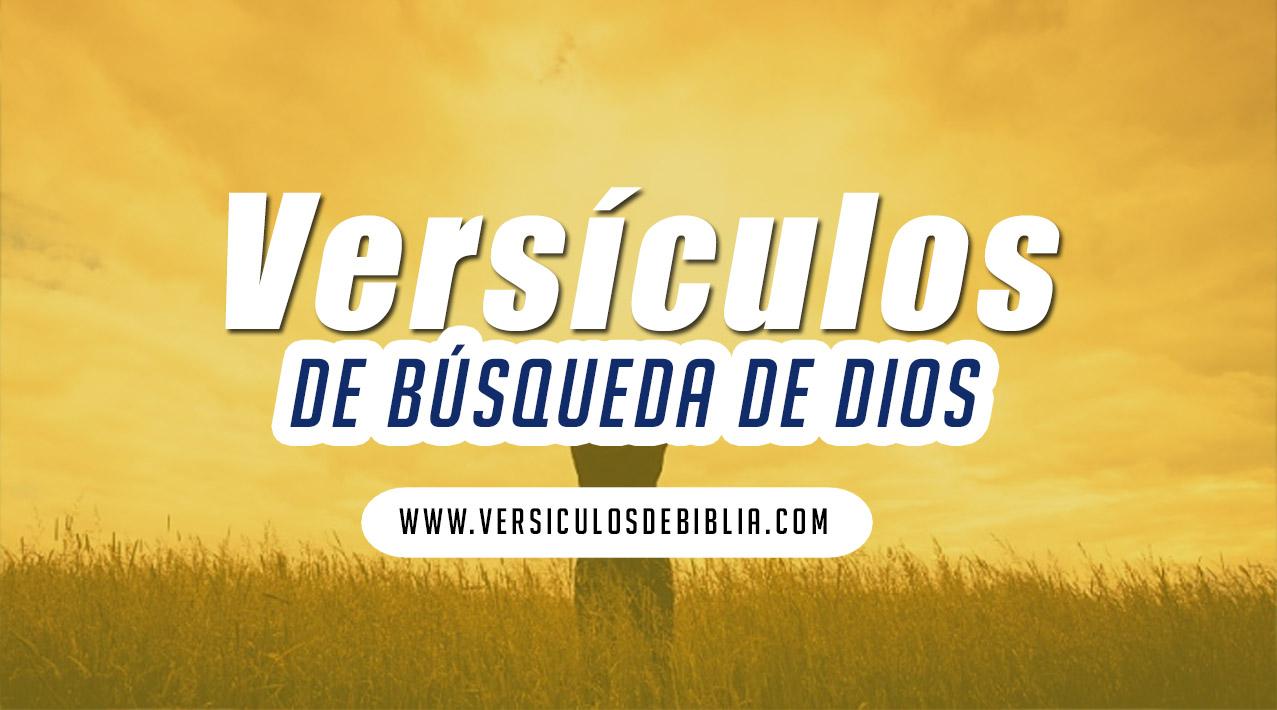 busquecar a Dios en todo tiempo versiculos