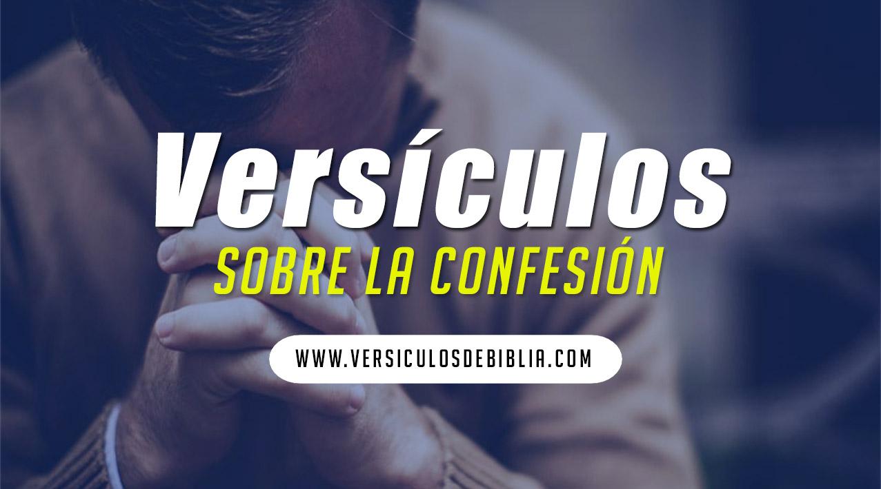 versiculos sobre confesarse